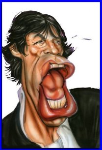 Mick Jagger Caricature